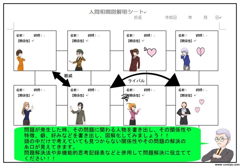 人間関係図解明シート