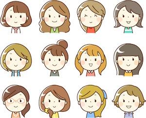 色々なタイプの女性