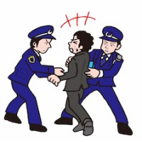 囚われる・逮捕される男性