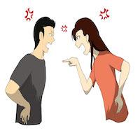 口論・けんかするカップル