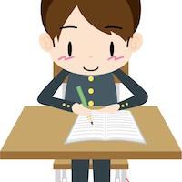 手紙を書く学生