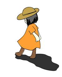 トボトボ歩く女の子