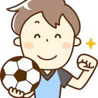 サッカーボールを持つ青年