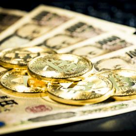 ビットコインと10000円札
