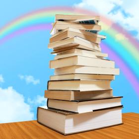 青空と虹と本