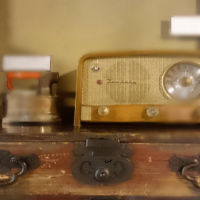 アンティークラジオ